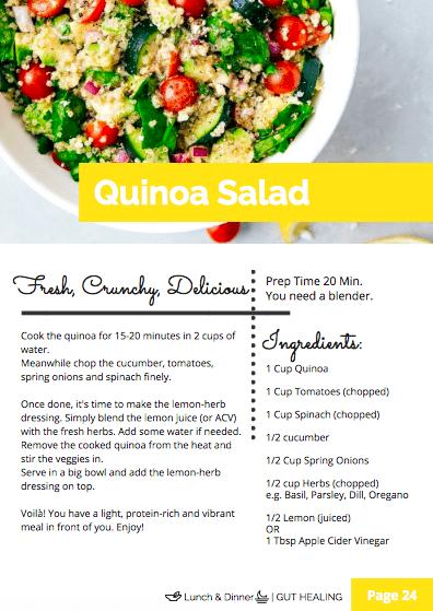 Quinoa Salad, Gut Healing Challenge